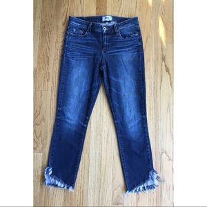 PAIGE Jeans Verdugo Crop Raw Hem Size 28